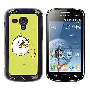 Exotic-Star ( Cute Fat Pig ) Fundas Cover Cubre Hard Case Cover para Samsung Galaxy S Duos / S7562