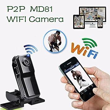 Electro-Weideworld - MD81 Mini cámara Portátil P2P Wifi IP Cámara Espia Mini DV de