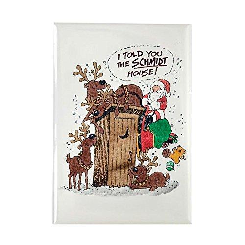 Rectangle Magnet Santa Claus Told The Schmidt House