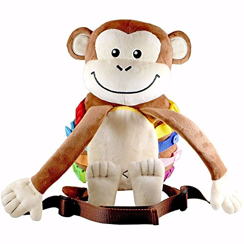 Busy Buckle Plush Monkey Backpack product image