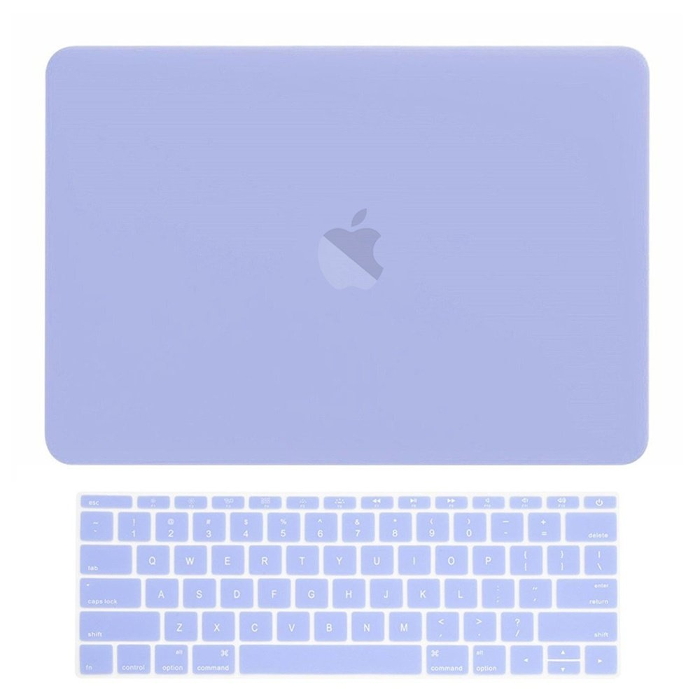 TOP CASE - MacBook Pro 13 Without Touch Bar (Release 2017 & 2016) 2 in 1 Bundle, Rubberized Hard Case + Matching Color Keyboard Cover for MacBook Pro 13-inch A1708 Without Touch Bar - Serenity Blue