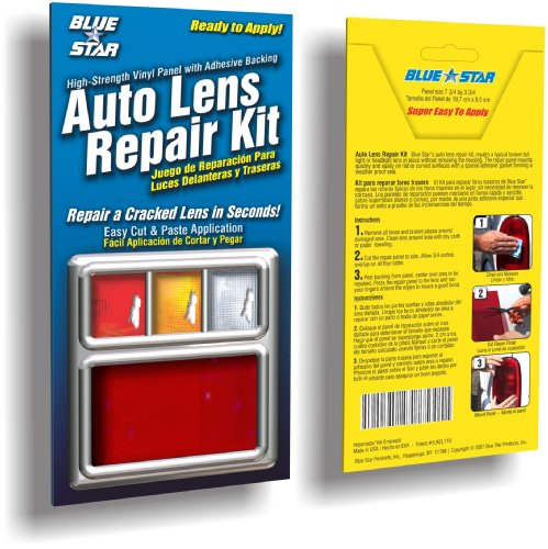 Blue Star 882 Auto Lens Repair Kit44; Red Smooth (Panel Tailight)