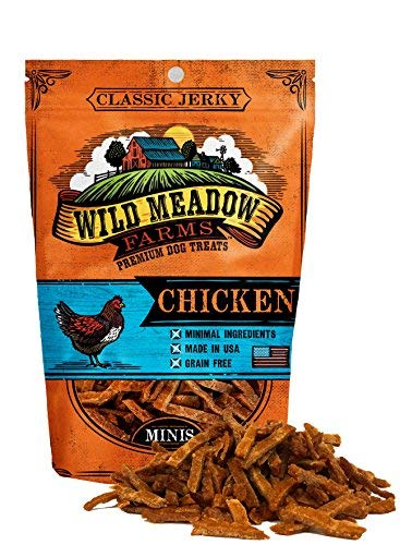 Wild Meadow Farms - Classic Chicken Minis - USA Made Soft Jerky Training Treats for Dogs