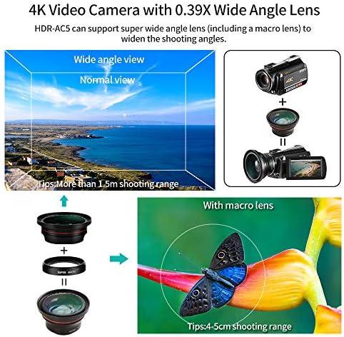 Videocámara Cámara de Video 4k, ORDRO HD 1080P 60FPS Vlog Camera ...