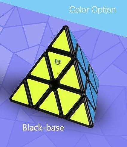 Cubelelo QiYi Qiming-A Pyraminx Black Rubik Rubic Rubix Speed Cube
