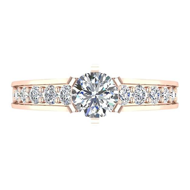 Amazon.com: Anillo de compromiso de diamante brillante ...