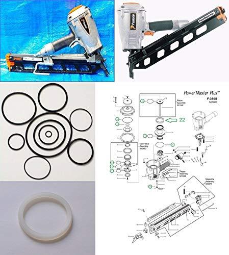 O-Ring Rebuild Kit for Paslode Framing Nailer F350-S With 402011 Cylinder Seal (Framing Nailer O-ring)