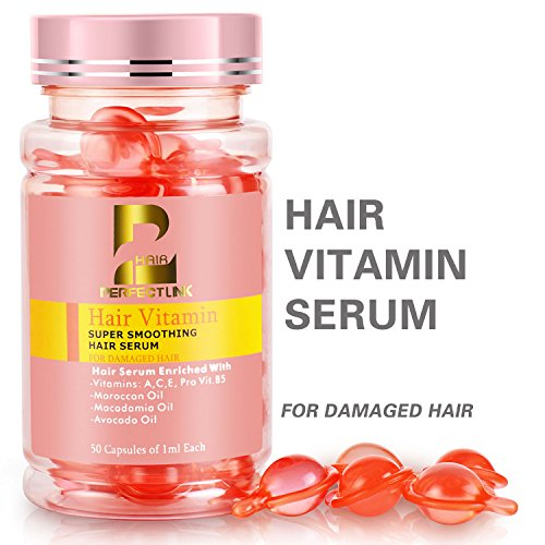 Perfect Care Hair Treatment for Dry Damaged Hair, Hair Oil Serum with Vitamin B5, Argain Oil Capsules, Keratin Repair Serum 50ML