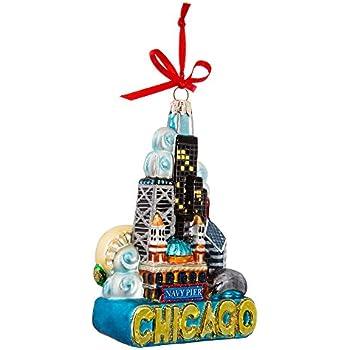 Kurt Adler Chicago Glass Ornament, 5-Inch - Amazon.com: Kurt Adler Chicago Glass Ornament, 5-Inch: Home & Kitchen