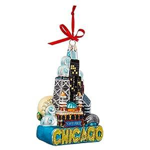 share facebook twitter pinterest - Chicago Christmas Ornament