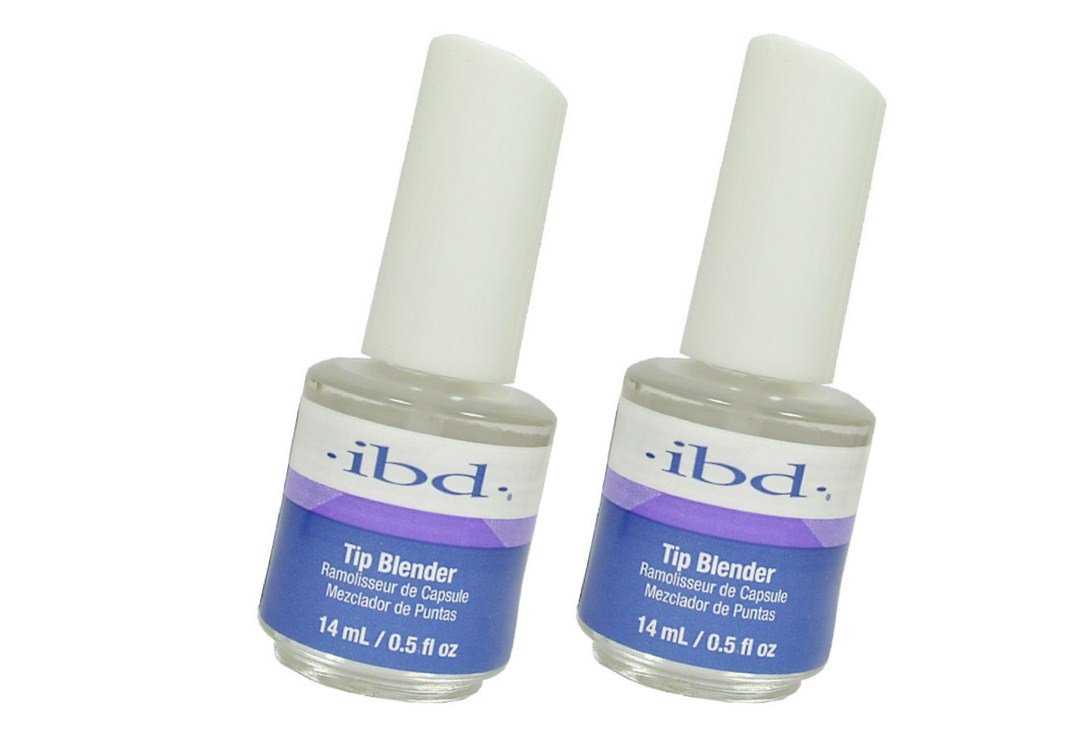 ibd Tip Blender Applied to the seam area of the nail tip, the Tip Blender will melt down the tip, making it faster and easier to blend your nail tips. - Size 0.5 floz 14ml (Pack 2)