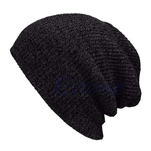 York Zhu Men Hip Hop Knitted Caps,Winter Warm Casual Slouchy Crochet Skullies Beanies
