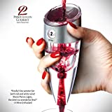 ONLY Exclusive #1 Adjustable Patented Wine Aerator Decanter on Amazon - Commercial Grade w/ 3X's!! the Volume Capacity as Other Brands. Toggle Aeration Speed According to Wine Age and Taste Preference! 100% Dishwasher Safe & FDA Certified Stainless Steel.