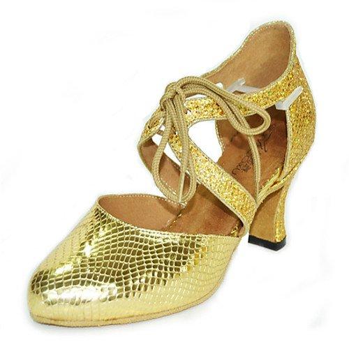Swing Salsa Glitter Black Jazz Chunky da da Heel Tango Indoor Grey Sandali Gold Performance Scarpe Oro T Practice donna T Q Heels ballo Silver latini Sparkling U81H7q