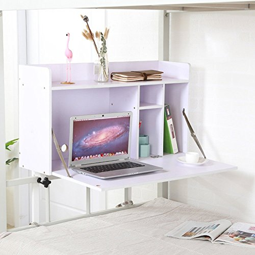 Escritorios MEIDUO Mesa de Ordenador Mesa de Ordenador portátil para Estudiantes universitarios Cama Habitación de...