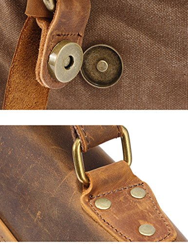 Bags Daypack Messenger Casual Canvas Menschwear Spalla Cachi Vintage Dell'imbracatura Pacchetto Caffè wfqAZZg