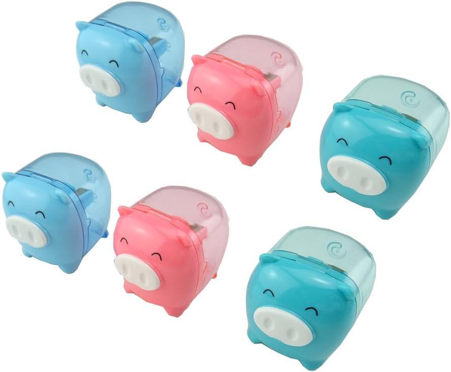 New Cute Pig Pencil Sharpener Stationary School Random De Design Kid V2Z5