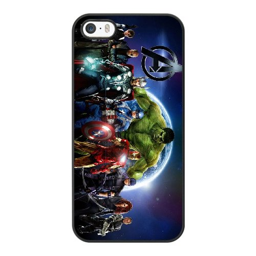 Coque,Coque iphone 5 5S SE Case Coque, The Avengers Superhero Cover For Coque iphone 5 5S SE Cell Phone Case Cover Noir