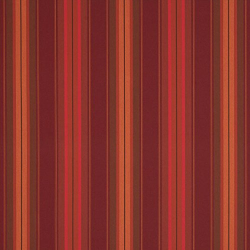 Sunbrella Saxon Chili #4885-0000 Awning / Marine Fabric (Saxon Stripe)
