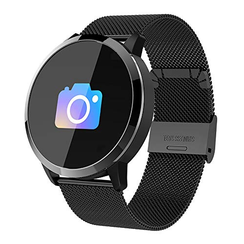 - MIJNUX Fashion Q8 Smart Bracelet Bluetooth Pedometer Heart Rate Bluetooth Multi-Function Bracelet Blood Pressure Monitoring Sports Bracelet,A