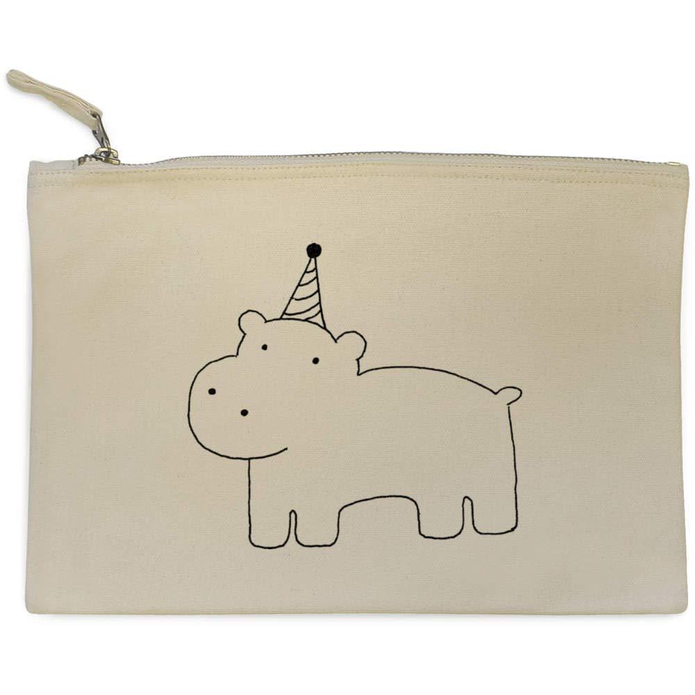 Azeeda Fiesta Hipopótamo Bolso de Embrague / Accesorios Case (CL00000700): Amazon.es: Juguetes y juegos