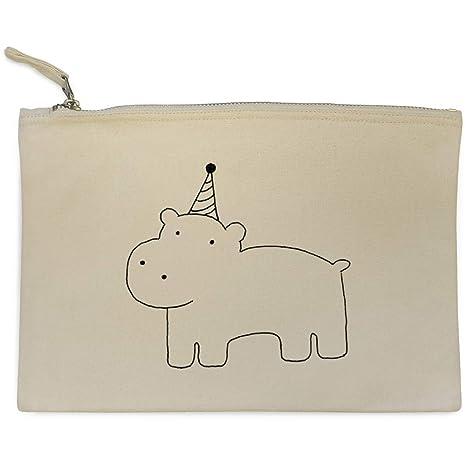 Azeeda Fiesta Hipopótamo Bolso de Embrague / Accesorios Case (CL00000700)