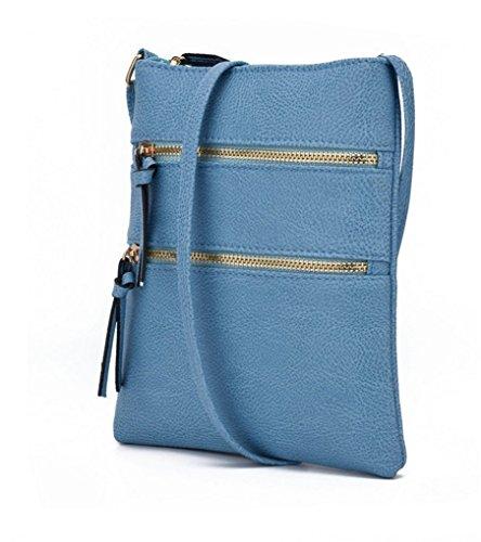 Purses Women Leather Blue Handbags For Nodykka Crossbody Pouch Shoulder Bag Cell Phone Wallet Pu Z7Bwzx