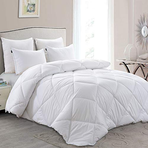 (Basic Beyond Lightweight Down Comforter (Queen) - Summer Weight Down Duvet Inserts with Corner)