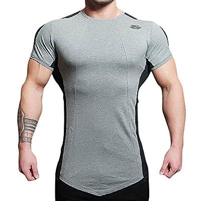 Mechaneer Men's Workout Muscle Fitness Gym Bodybuilding Short Sleeves T-Shirt