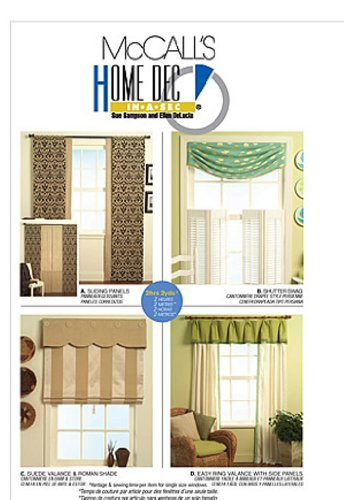 McCall's Home Dec In-A-Sec Pattern M5601 Window Treatments