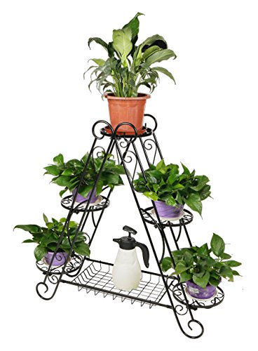 HLC 3-tier A Frame Plant Pot Stand with Bottom Shelf
