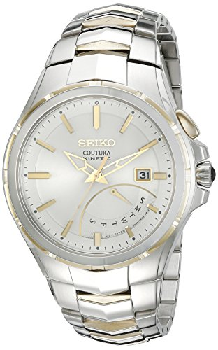 Seiko Men's SRN064 Coutura Kinetic Retrograde Two-Tone Stainless Steel Watch