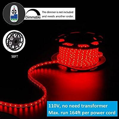Shine Decor LED Strip Lights, 110V, 2835 60LED