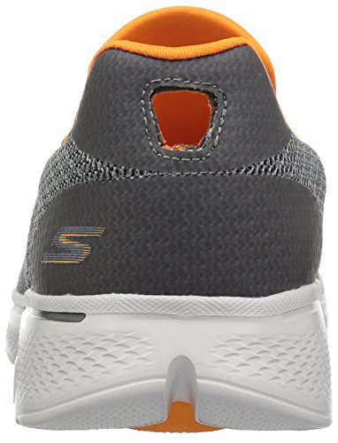 Skechers Mens Go Walk 4-expert Sneaker Charcoal / Orange