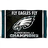 Philadelphia Eagles Super Bowl LII 52 Champs Flag 3ft x 5ft Fly Eagles Fly World Champs