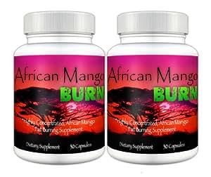 African Mango Burn (2 Bottles) - The Ultimate African Mango Fat Burning Supplement. Pure Irvingia Gabonensis Weight Loss, Appetite Suppressing Diet Pill