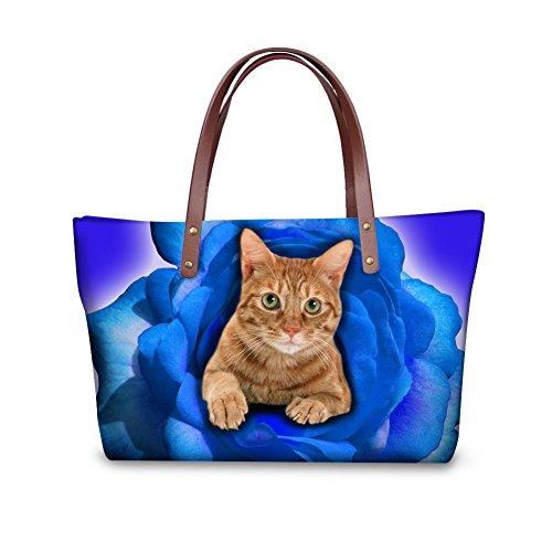 Fashion Nyecc3497al Satchel Women Foldable FancyPrint Handle Top Handbags Wallets Bags Purse vRZ7wqd