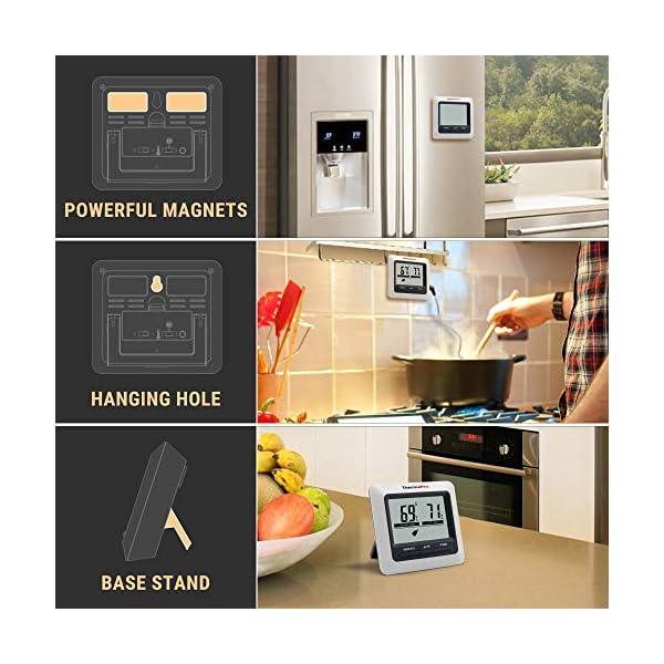 ThermoPro TP04 Termometro Cucina Digitale con Una Sonda e modalità Timer per Alimenti Carne Barbecue BBQ Forno Griglia… 6