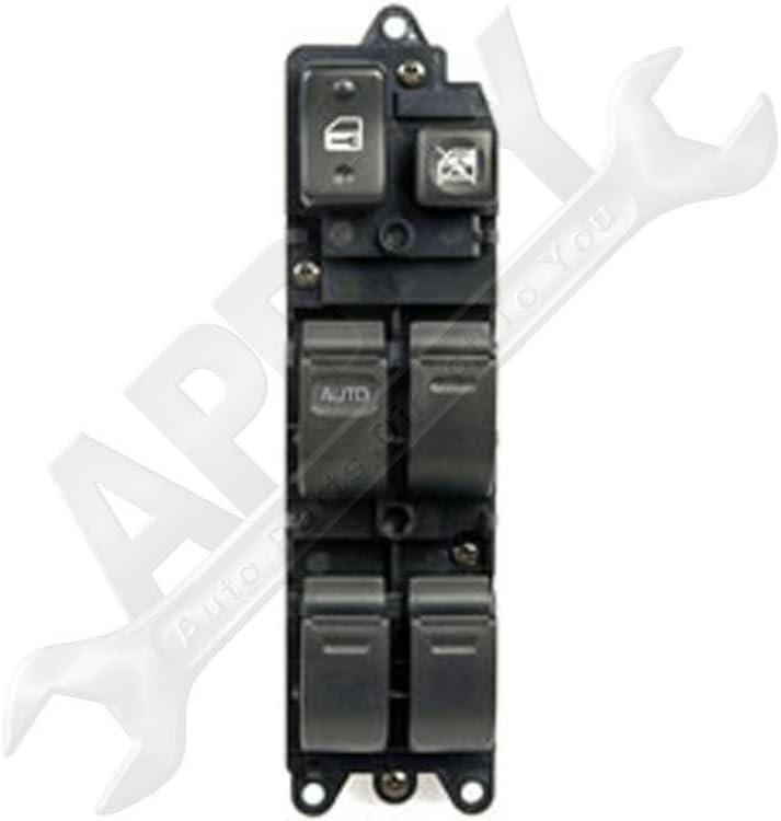 4-Door Models Only; Driver-Side; 84820-33060 APDTY 012814 Power Window Master Switch Fits 4-Door Front Left 1996-1997 Toyota 4Runner 1994-1996 Camry 1996-1997 Corolla 1996-1997 Rav4 1995-1997 Tercel
