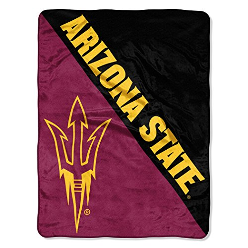 The Northwest Company Officially Licensed NCAA Arizona State Sun Devils Halftone Micro Raschel Throw Blanket, 46