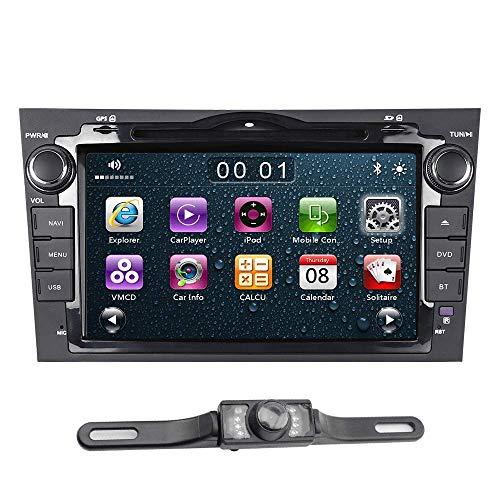 ASURE Car Stereo CD DVD Player GPS Navigation Mirror Link Touchscreen Bluetooth Car Radio for Honda CRV 2006 2007 2008 2009 2010 2011, Include Backup Camera &16G Map Card ()