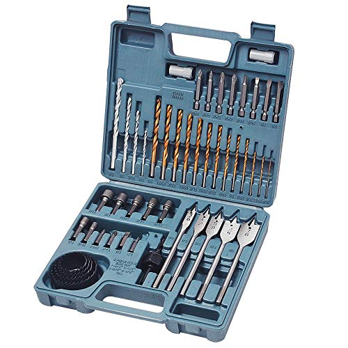 Hi-Spec 47 Piece Multi Purpose Drill Bit Set with HSS Steel Bits, Masonry Drill Bits, Wood Drill Bits, Wood Spade Drill Bits, Hole Saws, Hex Nuts, Slotted, Phillips & Pozi Screw Bits (Bit Kits Drill)