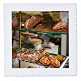 3dRose Danita Delimont - Food - Belgium, Antwerp. Shopping district, bakery window - 25x25 inch quilt square (qs_277300_10)