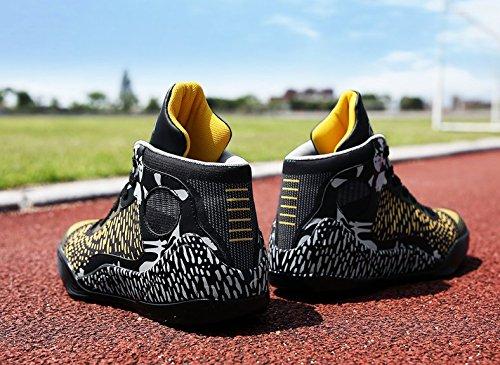 Amanti Pallacanestro Boom Pallacanestro Scarpe Traspiranti Assorbimento Degli Urti Scarpe Da Corsa Sneakers Scarpe Sportive Donna Nero E Oro