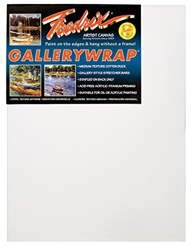 Fredrix 5077 Gallery Wrap Stretched Canvas, 11 by 14