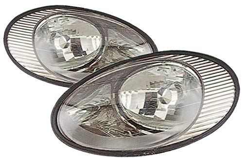 For 1998 1999 Ford Taurus Headlight Headlamp Assembly Driver Left and Passenger Right Side Pair Set Replacement FO2502157 FO2503157