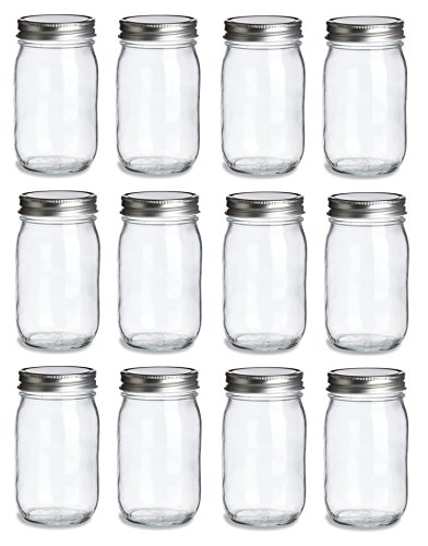 North Mountain Supply 16 Ounce Regular Mouth Mason Canning