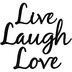 Live Laugh Love Word Art Wood Cutout