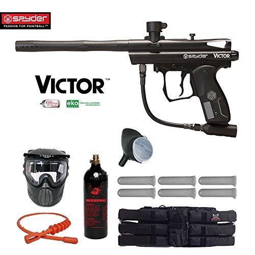 MAddog Spyder Victor Titanium Paintball Gun Package - Black