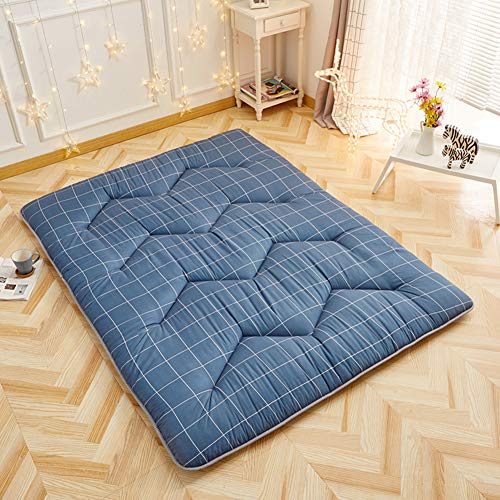 MSM Quilted Mattress Pad, Tatami Floor mat Thick Soft Comfort Folding Bedroom Living Room Sleeping Futon Bed roll-E ()